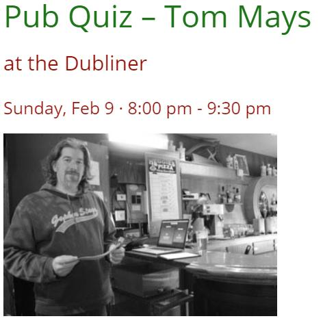 Pub Quiz – Tom Mays