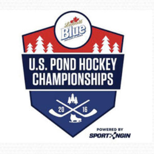 Pond hockey logo